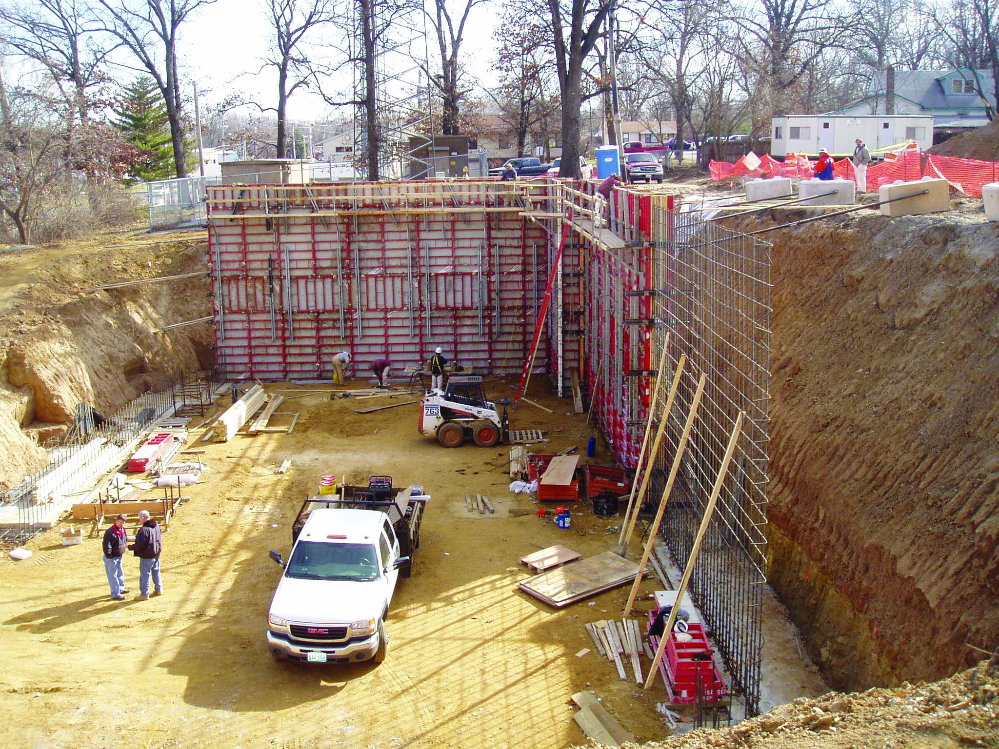 Concrete Forms for Foundation
